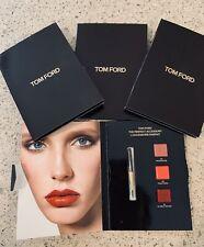 4x TOM FORD Lipstick Sample Card 4 Indian Rose 9 True Cora 16 Scarlet Rouge 0.03