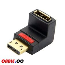 Cablecc DP DisplayPort Male to Female Extension Adapter Up Angled 90 Degree