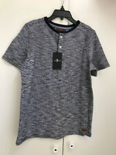 7 For All Mankind Boy's Short Sleeve Henley Tee Shirt Sz Medium NEW WITH TAGS