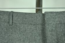 SUPERB Polo Ralph Lauren Corneliani Grey FLANNEL Wool Cashmere Pants FF 36 ITALY