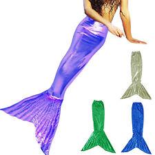 Little Mermaid Tail Costume for Kids Girl Child Halloween Beach Sea Fancy Dress
