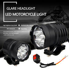 2X 60W 3modes Motorcycle LED Spot Light Driving Headlight Fog Head Lamp & Switch