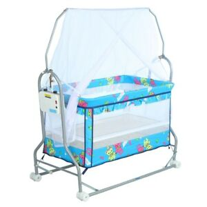 Baby Toddler Electric Auto Swing Cot Cradle Electric Infant Rocker Bouncer
