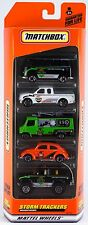 Matchbox Storm Trackers 5 Pack Orange Box VW Ford Mercedes-Benz Chevrolet