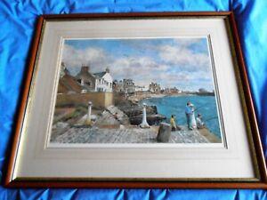 James McIntosh Patrick Print -Boys Fishing,Broughty Pier, Signed Ltd.Edition 790