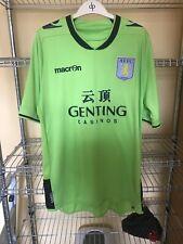 2012 2013 Original Macron Aston Villa Football Shirt Retro Soccer Away Size Med