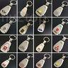 3D Car Logo Metal Titanium Key Chain Car Ring Keyfob Trapezoid Keyrings Gifts UK