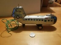 Vintage 1960s Piasecki YH-16 U.S Air Force Litho Helicopter Tin Toy Japan RARE