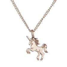 Mode Frauen Silber Gold Einhorn Anhänger Choker Halskette Kette Schmuck Geschenk