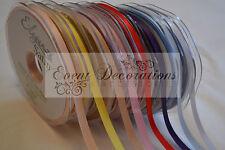 10MM Eleganza Raso de Doble Cara Lazo En 30 Colores, 20MLargo, Gran Valor