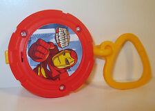 "2009 Light-Up Clip-On Iron Man 2.5"" Burger King Avengers Marvel Super Hero Squad"