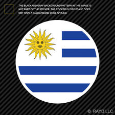 Round Uruguayan Flag Sticker Die Cut Decal Self Adhesive Vinyl Uruguay URY UY