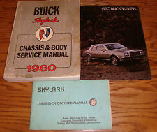 1980 Buick Skylark Owners Manual + Shop Service + Sales Brochure Lot of 3 80