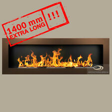BIO ETHANOL FIREPLACE *Excellence* BROWN XXL WALL BURNER 1400x400 Wide flames!!!