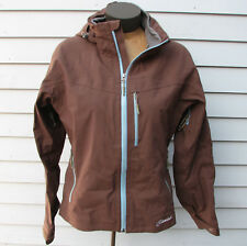 Cloudveil Women's Gore-Tex Brown Hooded Soft-Shell Coat Jacket Size Medium M