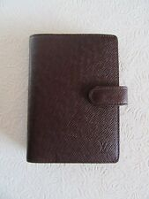 LOUIS VUITTON AGENDA - DAY PLANNER -BROWN TAIGA LEATHER CA0958
