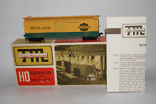 "TRAIN MINIATURE TMI HO SCALE, RUTLAND ""GREEN MT. GATEWAY 40' BOX CAR, BOXED"