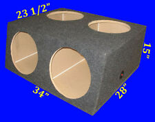 "4 FOUR HOLE 15"" COMPACT GREY SUBWOOFER SUB SPEAKER ENCLOSURE BOX"