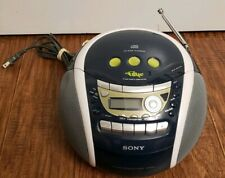 SONY CFD-E95 Blue CD CD Player Cassette-Corder AM/FM Radio Boom Box MegaBass