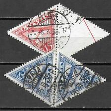Latvia stamps 1926 MI 130+131 Pair CANC VF AIRMAIL