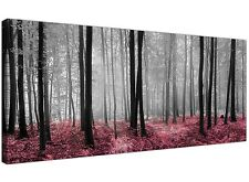 Modern Black White and Pink Canvas Prints of Forest Trees for your Dining Room