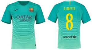 Trikot Nike FC Barcelona 2016-2017 Third - Iniesta 8 I 3rd Ausweichtrikot Barca