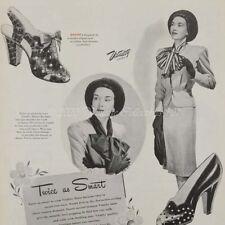 1945 Vitality Women's Leather Pumps Fashion Shoes photo art decor print ad