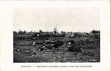CPA MILITAIRE Beaulieu-Matériel Agricole détruit par les Allemands (316336)