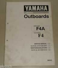 Manuel D'Atelier Yamaha Moteur Hors-Bord Marine Outboards F4A F4 Support 02/1998