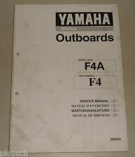 Werkstatthandbuch Yamaha Außenborder Motor Marine Outboards F4A F4 Stand 02/1998