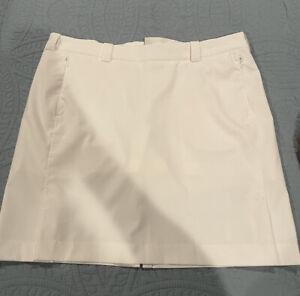 Nike Golf 6 Tour Performance Skort Skirt Dri-Fit Size 12 White Women's