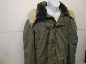 Vintage Military Extreme Cold Weather Hooded Parka type N-38