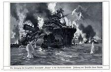 """Untergang der """"Bouvet"""" in der Dardanellenschlacht 1915 * WW 1"""