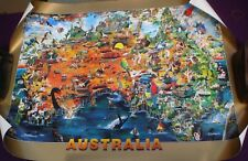 1 X Colorful Poster Of Australia 75 X 55 Cm See Pic See Other Posters