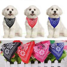 Adjustable Leather Pet Doggie Neckerchief Led Dog Collar Bandana Triangle Scarf