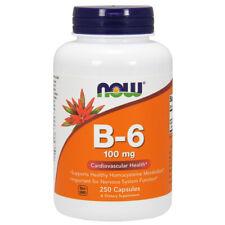 Vitamin B-6, 100mg x 250 Capsules, Pyridoxine - NOW Foods B6