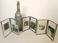 "Double Sided Glass & Metal Photo Picture Frame Vintage Style 6""x 4"" or 7""x 5"""