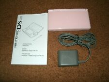 Nintendo DS Lite Pink Handheld Console With Case And Games