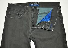 Sean Malto Four Star Faded Black Coated Button Fly Skinny Jeans 28X31 Stretch