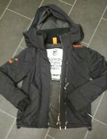 Superdry. Black Windcheater Hoodie Jacket Coat. Mens / Teens size small.