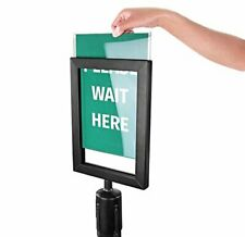 Brand New New Star Foodservice 54729 Sign Frame for Stanchion Belt, Black