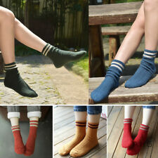 5pairs Elastic Striped Design Women Cashmere Wool Thick Socks Casual Sports Xmas