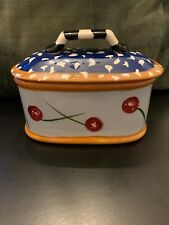 Droll Designs Vintage Covered Box/Butter Box � Cherry Motif