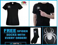 Lady Hale GLITTER Spider Brooch T-shirt Politics Boris Johnson **FREE SOCKS !!**