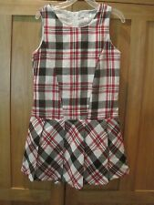 Girl CHILDRENS PLACE RED WHITE BLACK STRIPE PLAID Dress NWT 8 XMAS HOLIDAY?
