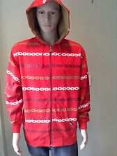 Crooks & Castles Men's Chain Hoodie , Size M , Color Red