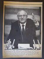 Nobel Prize Winner Press Wire Photo 1990 Cold War Prize Winner Mikhail Gorbachev
