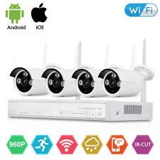 4CH Wireless 1080P NVR Outdoor IR 960P IP WIFI Camera CCTV Security System Video