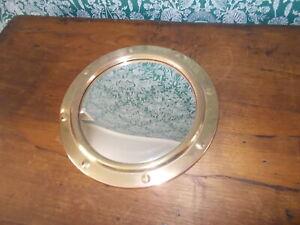 Lovely Brass Vintage Porthole Convex Round Mirror Bullseye DM1/1