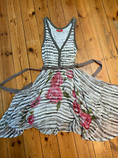 Vestido de verano Derhy Damas de rayas gris y blanco Talla S Pequeño